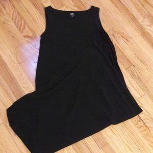 Eileen Fisher silk maxi dress small black